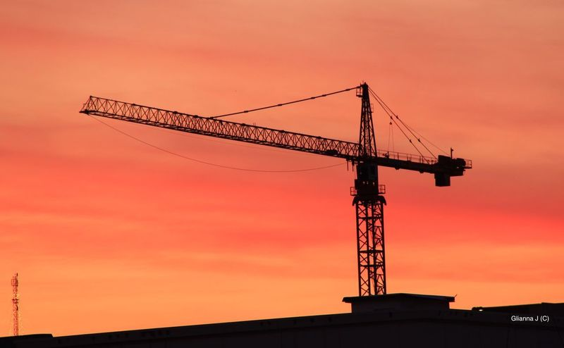Sunset in the city .... Hollywood California Crane - Construction Machinery Sunset Orange Color Orange Sky Construction Site Development Silhouette Sky Industry Business Finance And Industry Fresh On Eyeem  Construction No People Silhouettes Silhouette_collection Heavy Machinery Sunset_collection Light And Shadow City Colorful Sunset Silhouettes Skylovers Crane