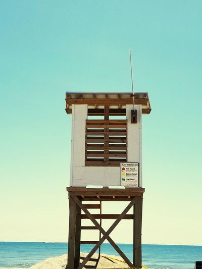 Water Sea Beach Old-fashioned Lifeguard  Wood - Material Heat - Temperature Lifeguard Hut Sky Horizon Over Water Lookout Tower Observation Point