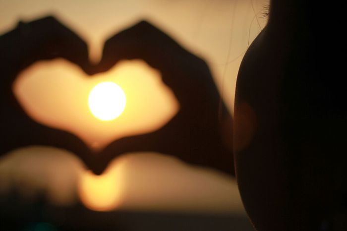 Silhouette Sunset Love Photography