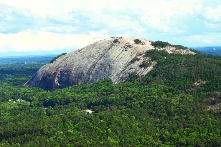 Stone Mountain side Nature Beauty In Nature Scenics Tranquil Scene Tranquility Sky Landscape Rock - Object Outdoors Day Mountain Green Color Cloud - Sky Growth Aviationphotography Tall - High Atlanta, Georgia Aviation Photography Aerialview ATL Travel Destinations Tourism Tall Aerial View Growth