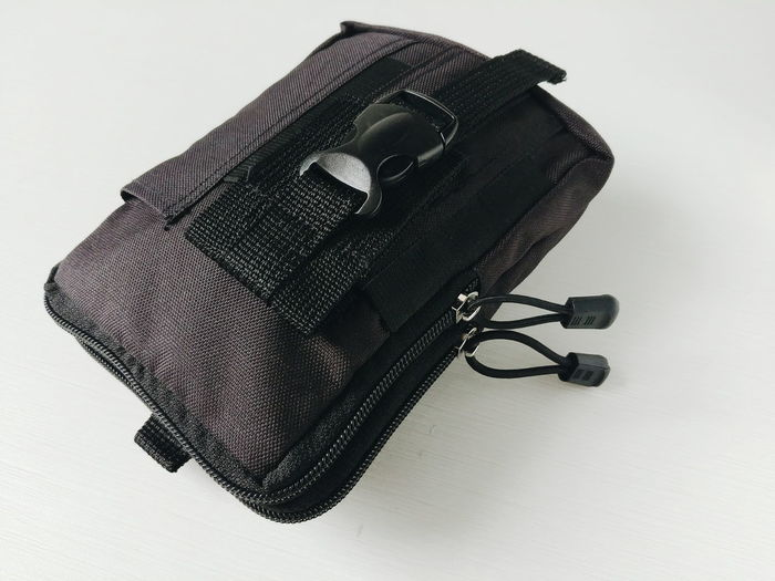 hand bag Black Color Utility Small Bag Military Bag Close Up Close-up Pack