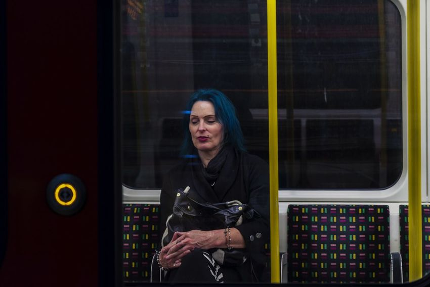 In the subway Subway Streetphotography London London Underground underwater photography Peaple Peaple Photography Tren Strreet Underground Train Looking At Camera Adults Only Adult