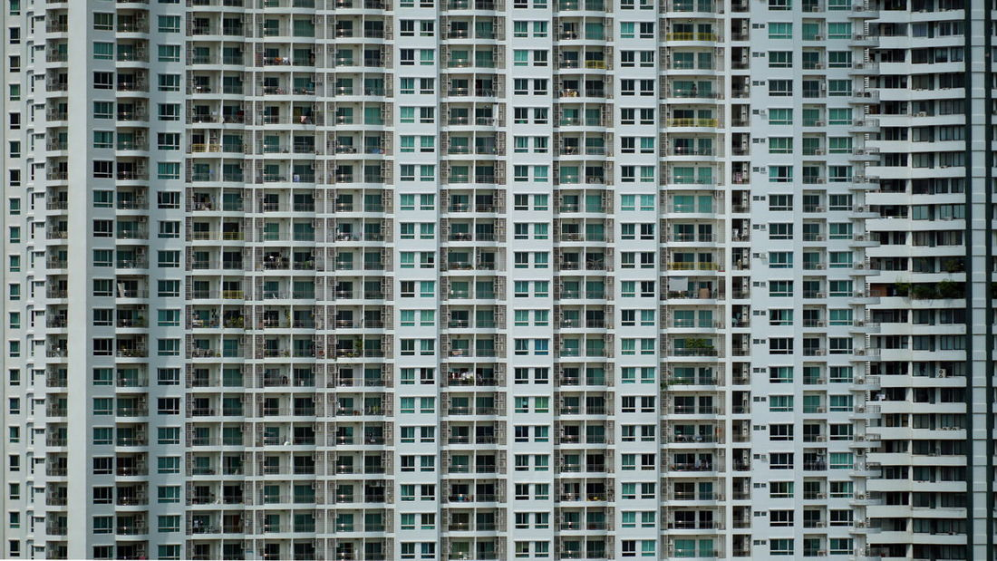 Blocks Construction Lines Square Textures and Surfaces Apartment Architecture Balconies Building Building Exterior Built Structure City Cityscape Condominium Dwelling Full Frame Highrise In A Row No People Pattern Residential Building Skyscraper Texture Vertical And Horizontal Lines Window