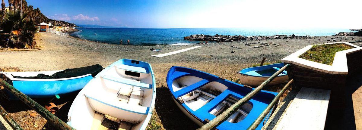 Cogoleto Sea Boat Beach Tranquility Blue Italia Landscape