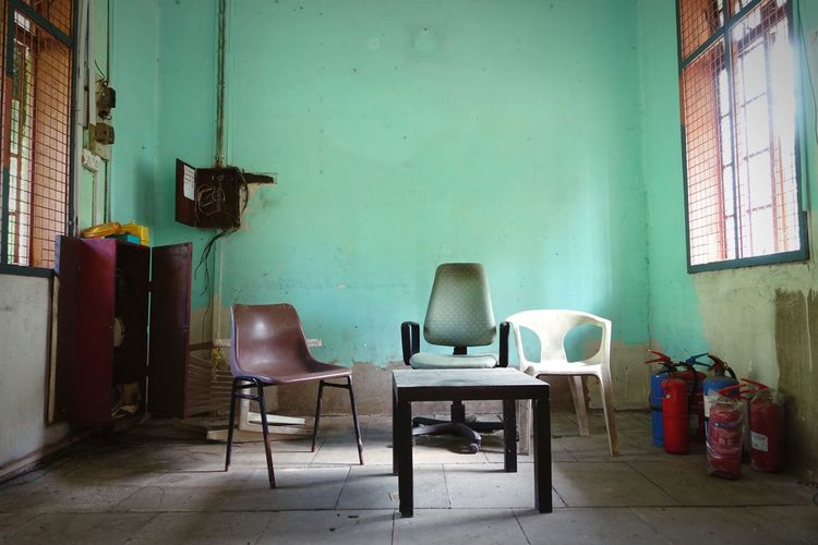 Quiet Abandonment. |Bukit Timah Railway Station, Singapore| Interior Views Q Urban Exploration Singapore Abandoned Places Green Chair Theneighbourhoodseries Telling Stories Differently
