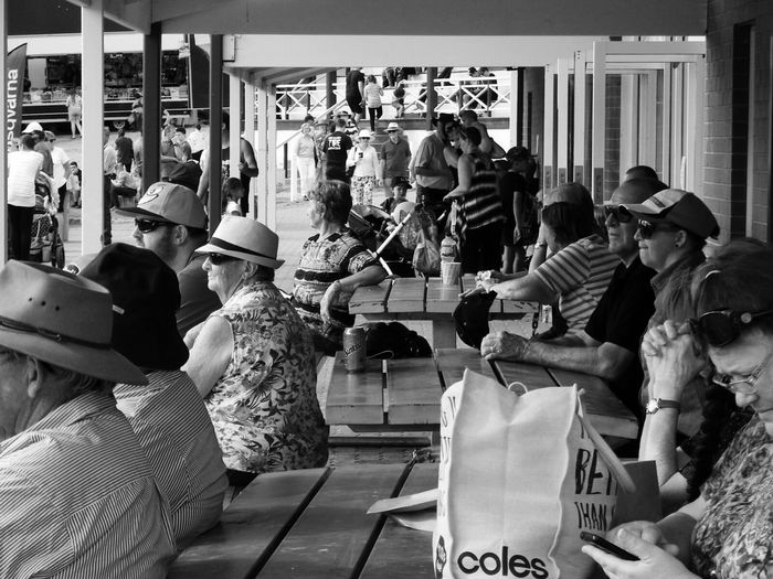 Large Group Of People Real People Lifestyles Crowd Adult Country Show Streetphotography Blackandwhite Large Group Of People Adult Benches Pavilion Real People Photography Tadaa Community Photography From My Point Of View Outdoor Photography Outdoors Black And White Eye4photography  Unique Perspectives