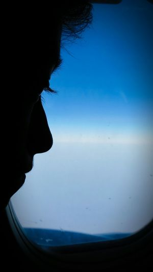 In the flight... That's Me :) In The Plane Hello World Canon Sx40 Hs Canon Canonphotography One Person Close-up Sky Clouds