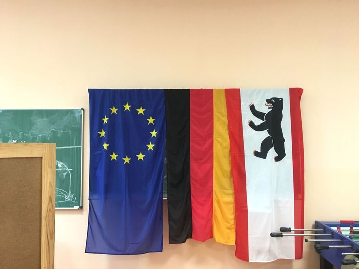 No People Flag Blue Indoors  Patriotism Multi Colored Day Close-up Elections Germany Europe
