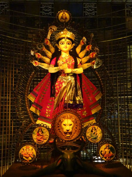 Indoors  Religion Spirituality Celebration Statue No People Kolkata KolkataStreets DurgaPujaDiaries Durga Puja 2017 Paint The Town Yellow