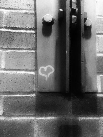 Shadow Close-up No People Day Brick Wall Metal - Material Heart Blackandwhite Welcome To Black