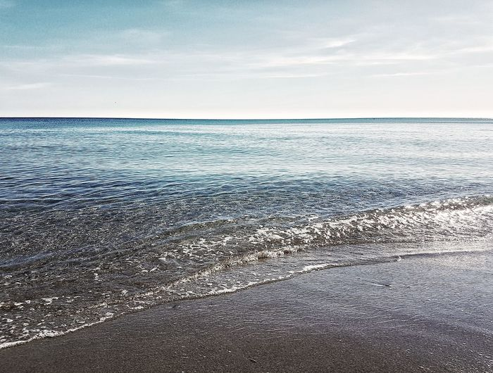 Inmensidad Sea Beach Horizon Over Water Beauty In Nature Nature Scenics Sky Travel Destinations Vacations Sand Tourism Summer Water Outdoors Day No People Sunset Horizon Landscape Wave