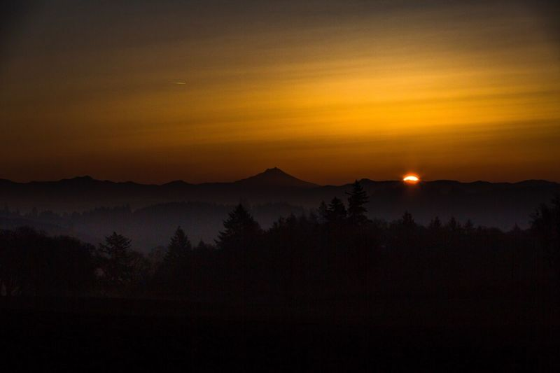 Sunrise Jefferson Oregon Mt Jefferson Mount Jefferson Salem, Oregon Silhouette Mountain Tranquil Scene Landscape Outdoors No People Robert DuVernet Photography