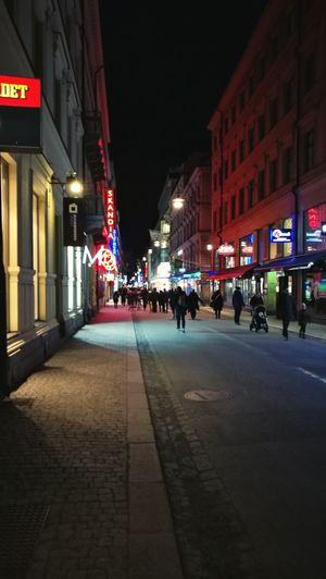 Sweden City Illuminated Night Architecture Street City Street Outdoors Stockholm
