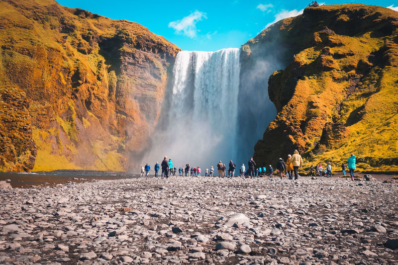 Incredible Skogafoss waterfall in Iceland. Iceland Beauty In Nature Flowing Water Iceland_collection Icelandic Power In Nature Powerful Powerful Nature Skogafoss Skogafoss Falls, Iceland Skogar Waterfall The Great Outdoors - 2018 EyeEm Awards