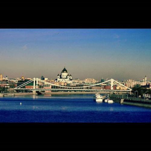 Moscow Gorky Park River Christthesaviorcathedral Bridge