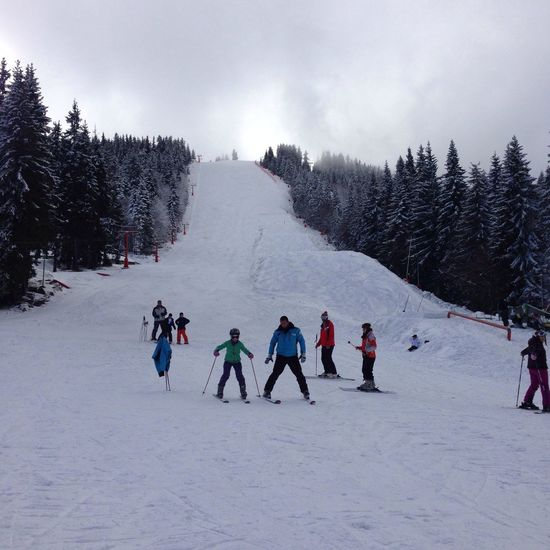 Nice Atmosphere Skiing Snowing Mountains