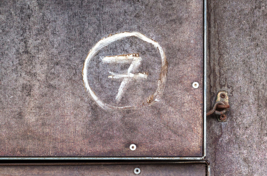 7 Background Texture Close-up Day Door Gray Background GrungeStyle Mark Marking Metal Background Metal Surface No People Number Number 7 Number Seven Numbers Outdoors Painted Wall Painting Seven Stable Stable Door Textures And Surfaces White Painting
