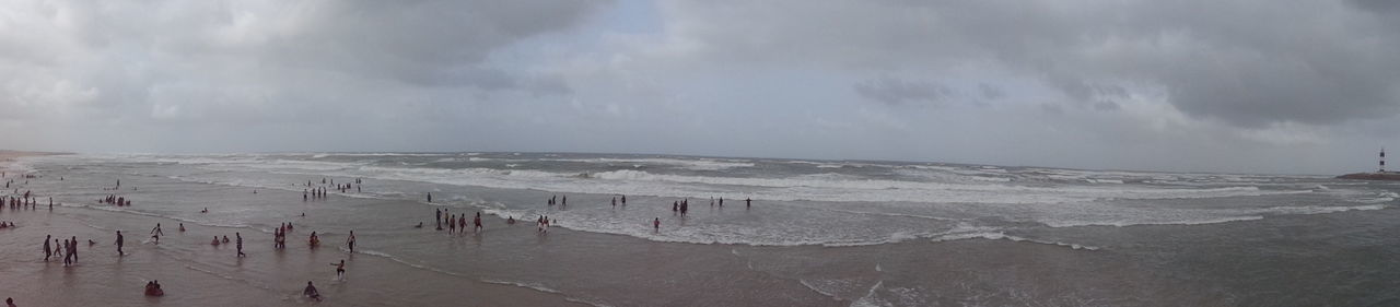 Dwarka Beach Beauty In Nature Cloud - Sky Cold Temperature Day Landscape Nature No People Outdoors Physical Geography Scenics Sky Snow Tranquility Winter