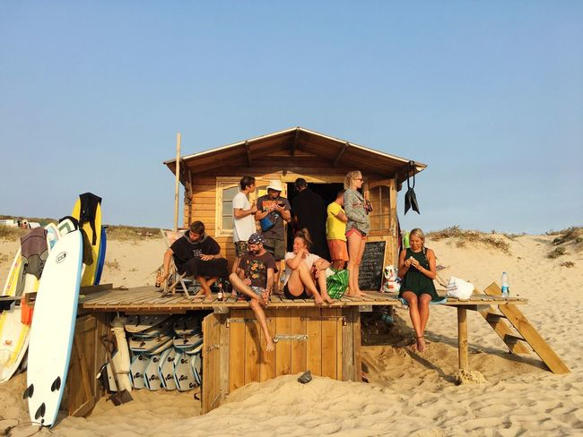 Sun downer with the crew... Aljezur Portugal Life Is A Beach Clear Sky Beach Leisure Activity Fun Real People Togetherness Friendship Still Life The Week On EyeEm Your Ticket To Europe Summer Exploratorium