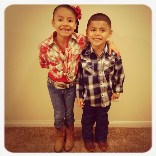 Mommy's Cowgirl&cowboy