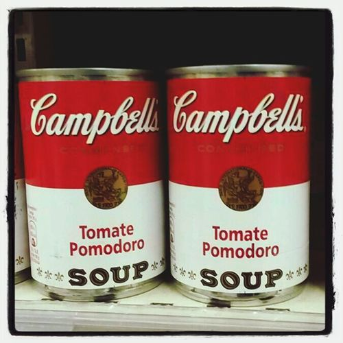 Andy Warhol's soup cans... Grugliasco