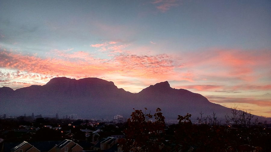 Mountain Sunset Beauty Sky Landscape Foggy Dramatic Sky Atmospheric Mood Moody Sky