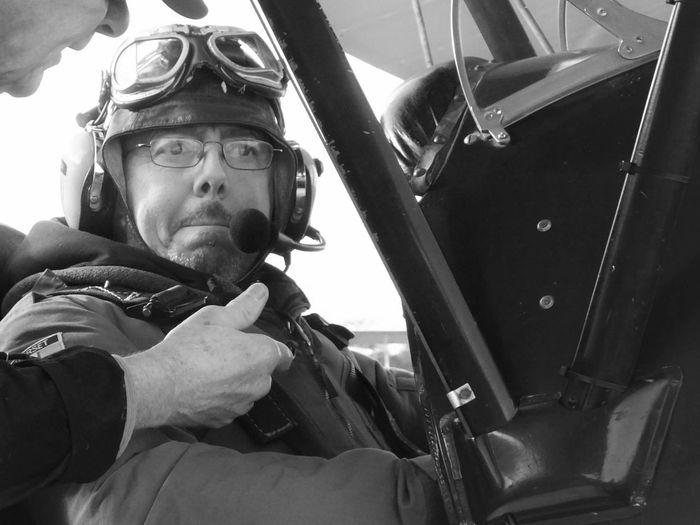 The Photojournalist - 2016 EyeEm Awards Daddy Blackandwhite Flying Aeroplane Pilot Goggles Father 50th Adventure Club On The Way