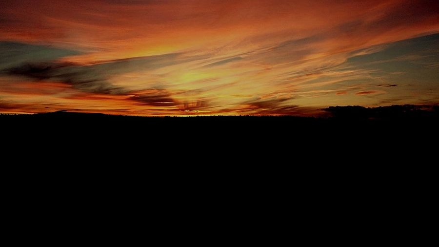 Sunset Landscape Outdoors Summer Sky Nature Night Beauty In Nature Multi Colored Warmth Of The Sun Warm Colours_collection Beautiful Sky Nice Atmosphere Black Color Lost In The Landscape Perspectives On Nature