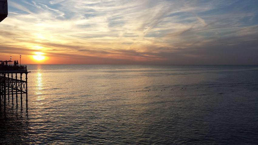 The Stunning Sunset of Blackpool, UK Blackpool Sunset Sea First Eyeem Photo