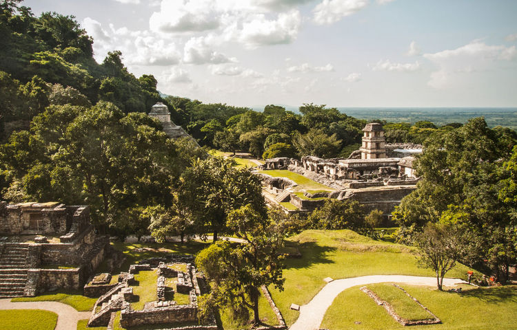 Palenque. Architecture Beauty In Nature Cloud Cloud - Sky Day Forest Growth Holiday Jungle Landscape Maya Mayan Ruins Mexico Nature No People Outdoors Palenque Ruins Scenics Sky Travel Travel Destinations Tree Unesco UNESCO World Heritage Site