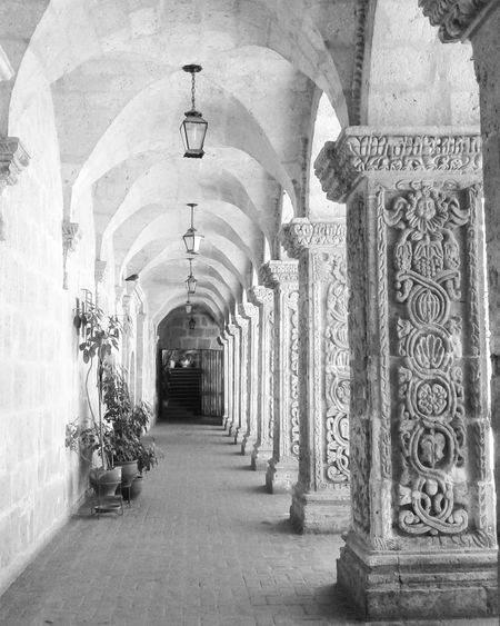 Arquitecture Arequipa - Peru Peru Sillar Art Columns Colonial Colonial Architecture Walls Culture Traveling