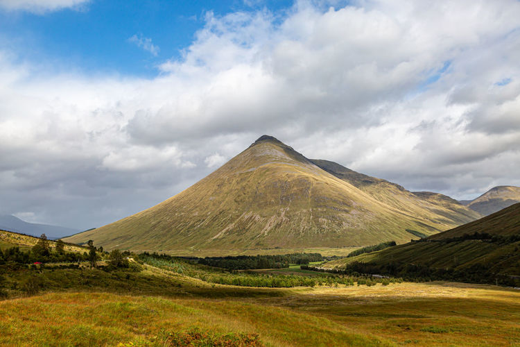 Mountains in scotland on a sunny september day