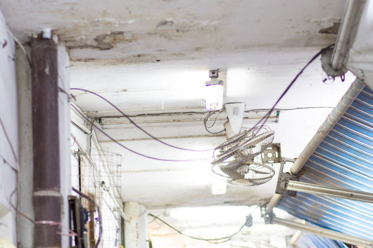 Old Ceiling Cable Ceiling Electricity  Indoors  Leakingwater No People Old