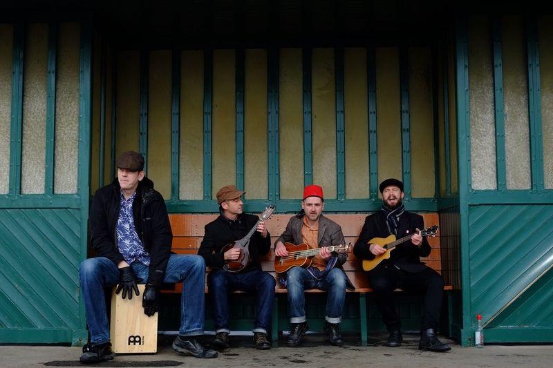 Scandomando playing just for me! Ukulele Mandolin Band Music Brighton Seafront