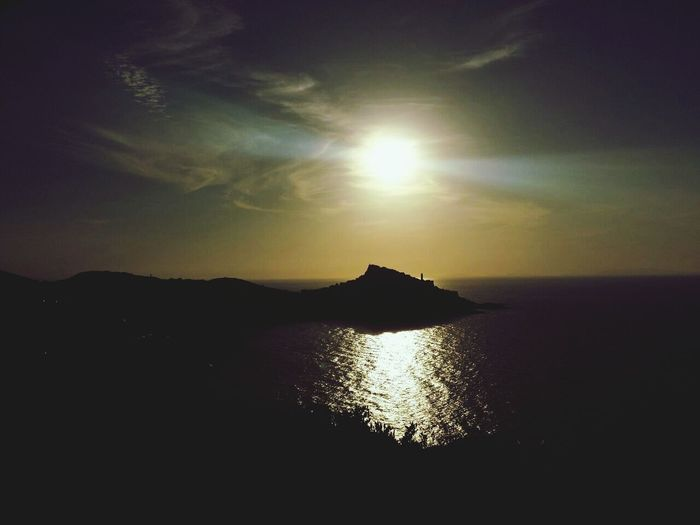 Sunset Silhouettes Castelsardo Beautiful Love