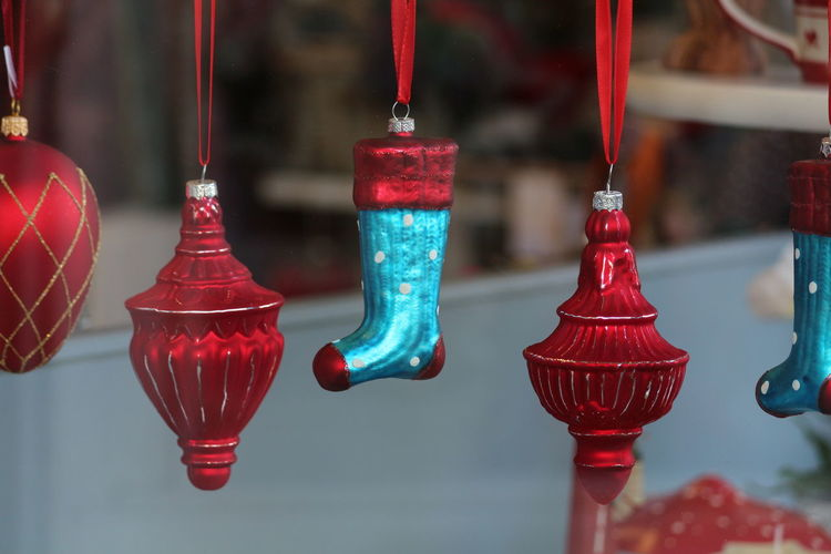 Christmas Christmas Decoration Red Arts Culture And Entertainment Close-up For Sale Hanging Christmas Ornament Tree Topper Shop