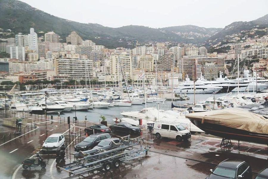 Port Monaco Point Of View Boats Landscape Montecarlo Monaco Pastel Power Rain Day