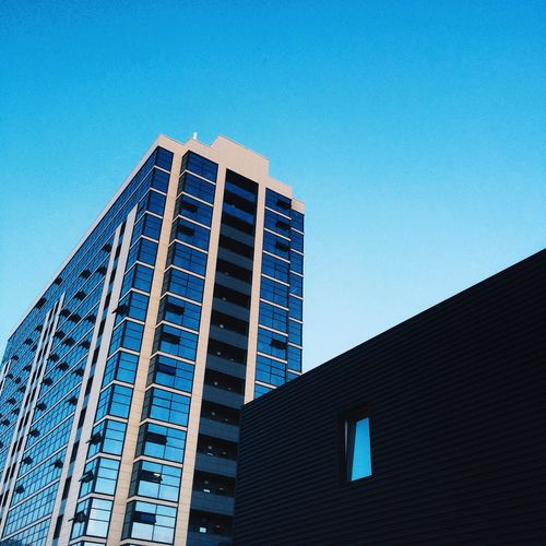 Architecture Clear Sky Blue City Tower Built Structure Apartment City Life Outdoors Sky First Eyeem Photo