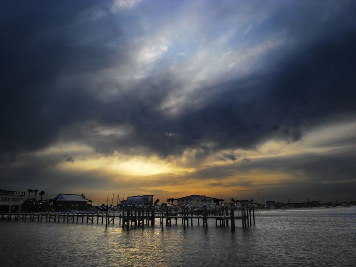 Ocean pier in Pensacola, Florida Dramatic Sky Travel Beauty In Nature Building Exterior Built Structure City Cloud - Sky Day Florida Florida Travel Nature No People Ocean Outdoors Scenics Sea Sky Sunset Tranquil Scene Tranquility Travel Blog Travel Destinations Vacation Water Waterfront