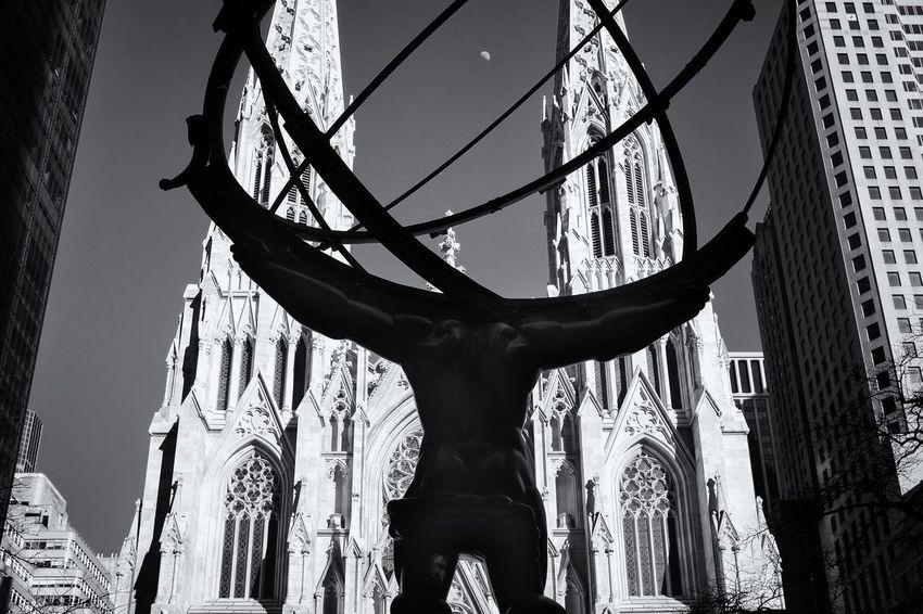 Blackandwhite Noir Et Blanc Travel Photography Silverefexpro2 EyeemTeam NYC Photography New York City FujiX100T New York Topoftherock Rockfeller Center 2016 EyeEm Awards Fujifilm Fujifilm_xseries Cathedral Saintpatrickscathedral