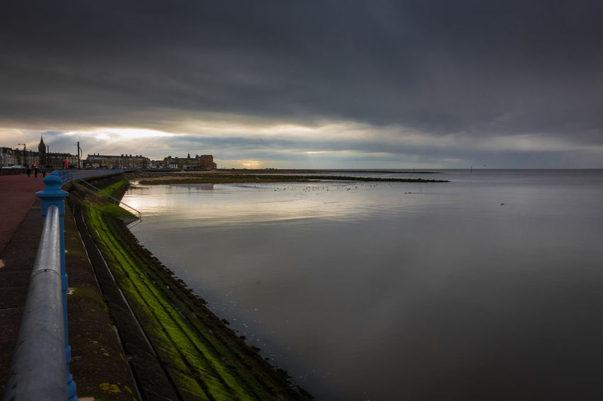 Morecambe Architecture Beach Beauty In Nature Cloud - Sky Horizon Over Water Illuminated Morecambe Nature Outdoors Scenics Sea Sky Storm Cloud Water