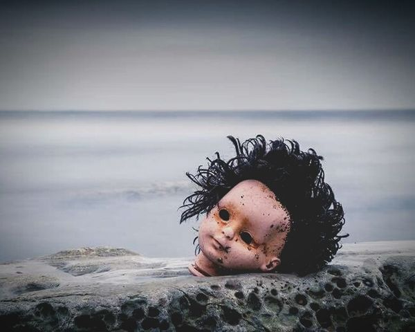 Cold Temperature Outdoors Sky Day Beach Washed-up Dolls Head