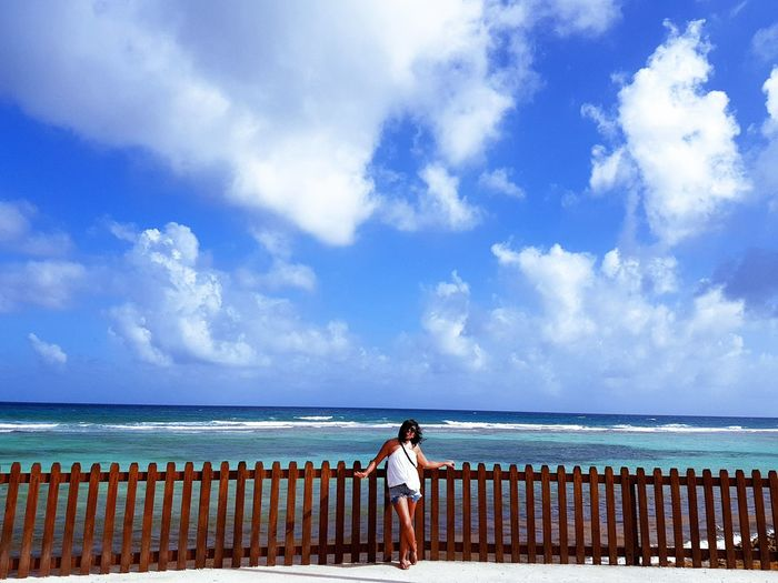 Azul Cloud - Sky Sea Sky Beach Adults Only Water Blue Only Women One Woman Only Tranquility Horizon Over Water Day Nature