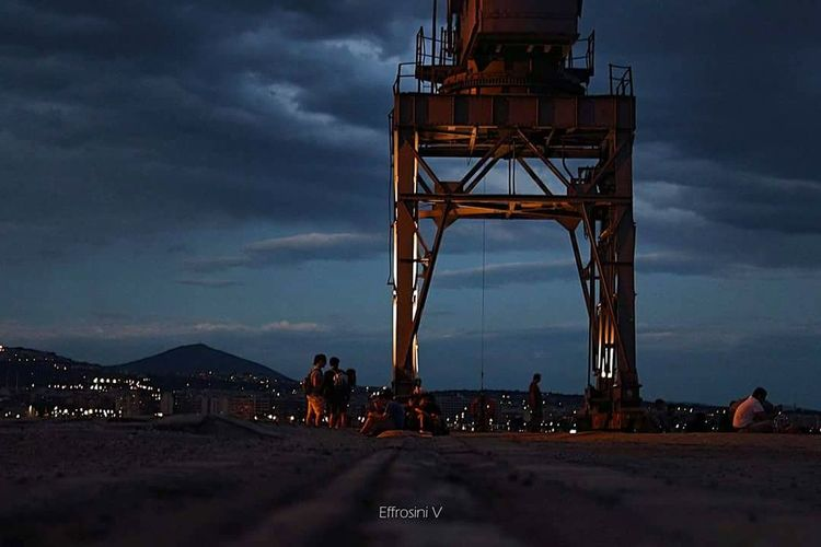 Cloud - Sky Landscape Cityscape City Harbor Low Angle Shot Crane - Construction Machinery GroundShot Thessaloniki Walks GREECE ♥♥