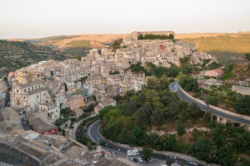 Evening in Ragusa, Sicily Be. Ready. Ragusa Ibla, Sicily Sicilia Sicily Sicily, Italy Travel Photography Traveling Architecture Building Exterior Built Structure City Cityscape Evening High Angle View Italy Mountain Nature No People Outdoors Ragusa Road Sicily Landscape Sicilyphotography Travel Destination Travel Destinations