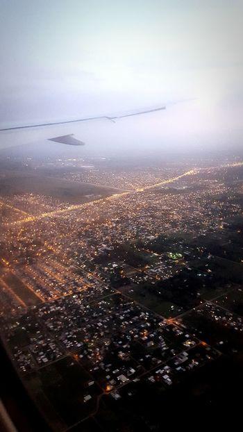 Aterrizaje y Anochecer en Buenosaires