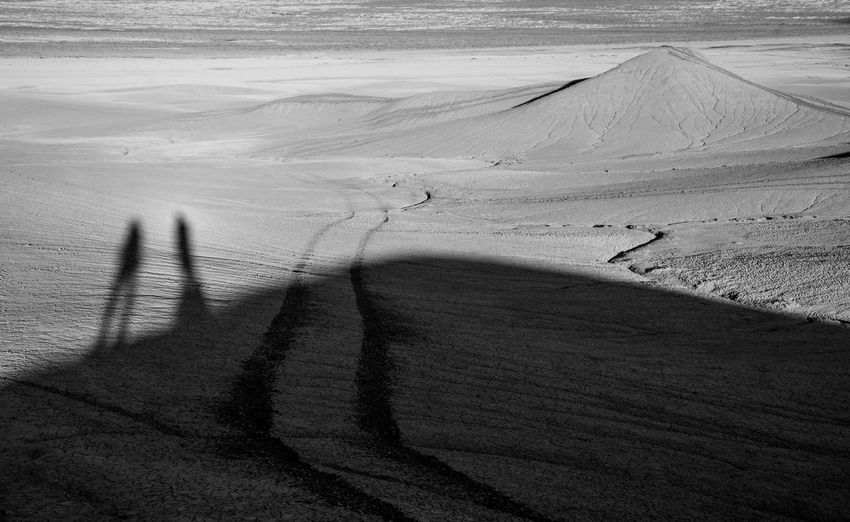 Explorers Utah USA Shadow Land Sunlight Nature High Angle View Day Sand Focus On Shadow Real People Unrecognizable Person Landscape Desert Environment Outdoors Arid Climate