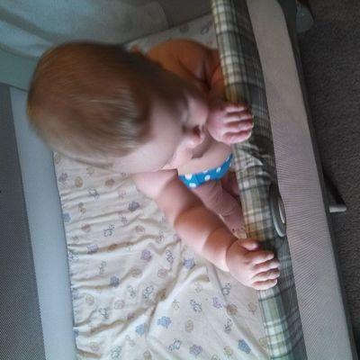 Standing up in his packnplay