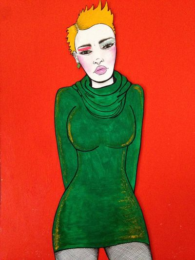 Orange Punk Art Painting ArtWork Contemporary Art Artlovers Fineart Outsiderart Drawing Illustration Fashionillustration Art Gallery Comicart Comix Artbrut Picture Orange Color Orange! Genskiart Popart Finearts Art Blogger