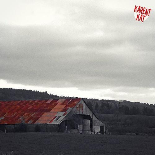 Rouillé Nuance  de Rouille Hangar Ferme ciel nuance de gris